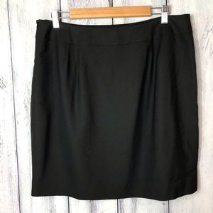 Talbots Skirt Stretch 16 Petite Black Lined
